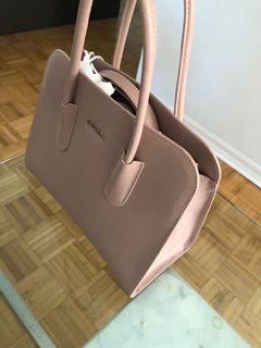 Furla dusty pink midi bag