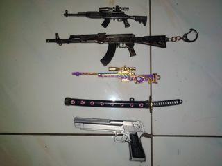 Gantungan kunci senjata ff/pubg
