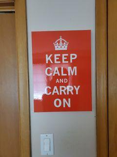 Keep Calm and Carry On wall art print