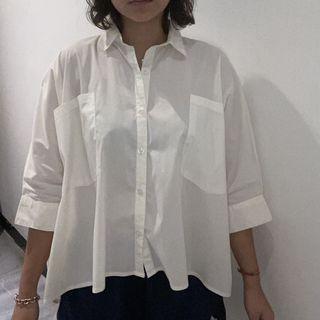 Kynata White Shirt Double Pocket