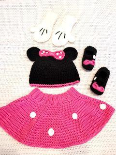 Minnie mouse dress up crochet set