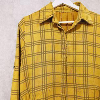 Mustard  tunic tartan