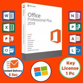 Office 2019 Professional Plus Retail 2021 Key Genuine 64/32 bit Full Version