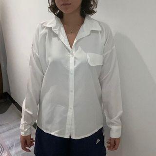 One Pocket White Shirt