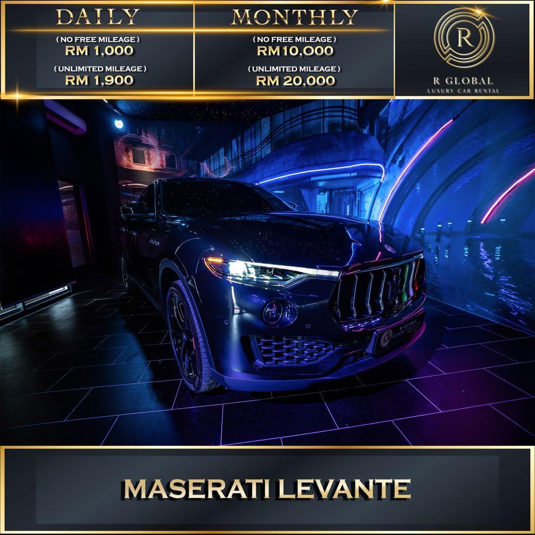 Rent a Maserati Levante in Kuala Lumpur