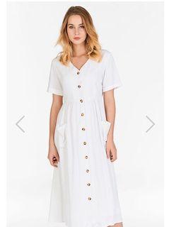 TCL Landa Linen Midi Dress