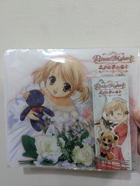 美少女夢工廠4 精裝版贈品 滑鼠墊 書籤卡 吊飾 2005年