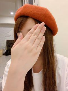 全新 貝蕾帽 畫家帽 可調節頭圍 磚橘色 #LoveIsLove