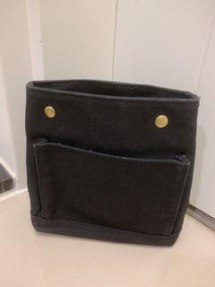 小號 袋中袋 包中包 多格層 帆布 小尺寸 黑色
