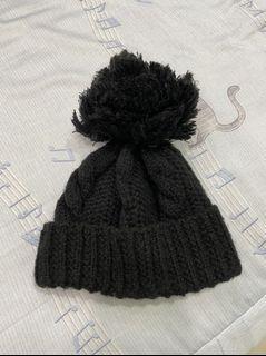 免費送 素色 毛帽 保暖 針織 圍脖 配件 毛球 #母檔