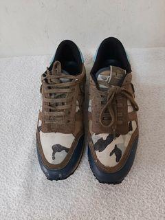 超值 八成新~ Valentino范倫鐵諾 經典 迷彩 37 號 運動休閒鞋
