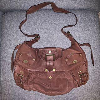 Mulberry 啡色女裝復古手袋 Joni Brown Soft Leather vintage cross body slouch women's hobo bag