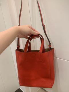 NET 紅色 提袋式方包 可肩背 可斜背 可手提 磁釦 #LoveIsLove