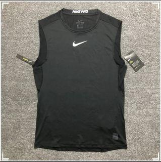 Nike(L&XL) Quick drying breathable tight pro running vest速乾透氣緊身運動跑步背心dry fit