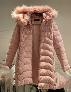 Puffer Jacket in Cotton Pink