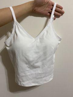 全新白色罩杯V領背心