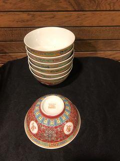 Wan shou Vintage Chinese bowls