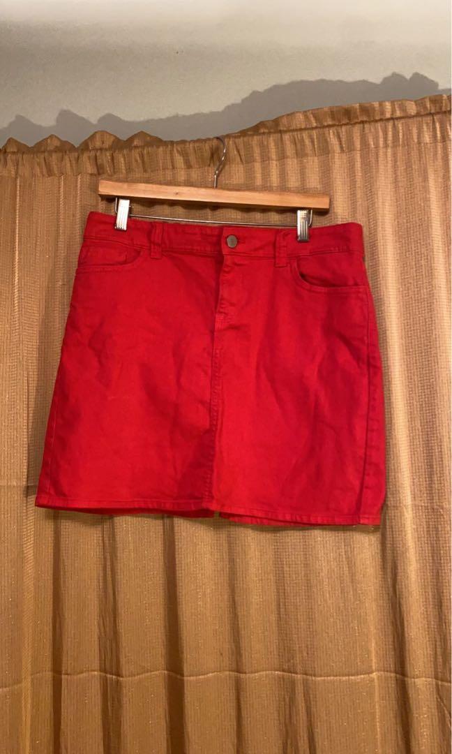 Vintage Red Tommy Hilfiger Denim Skirt