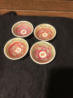 Wan shou Vintage sauce plates (2inch)