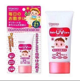 WAKODO Mirufuwa Baby UV Care for Everyday Walk SPF-21 30g