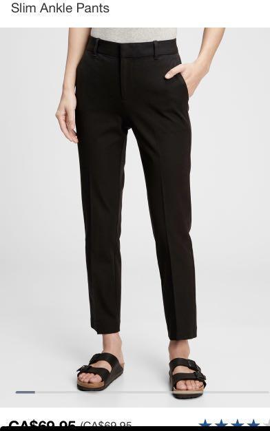 Wool blend high waisted charcoal dress pants