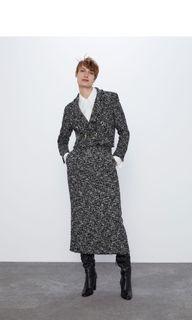 (全新品)Zara 紋理紡織窄長裙