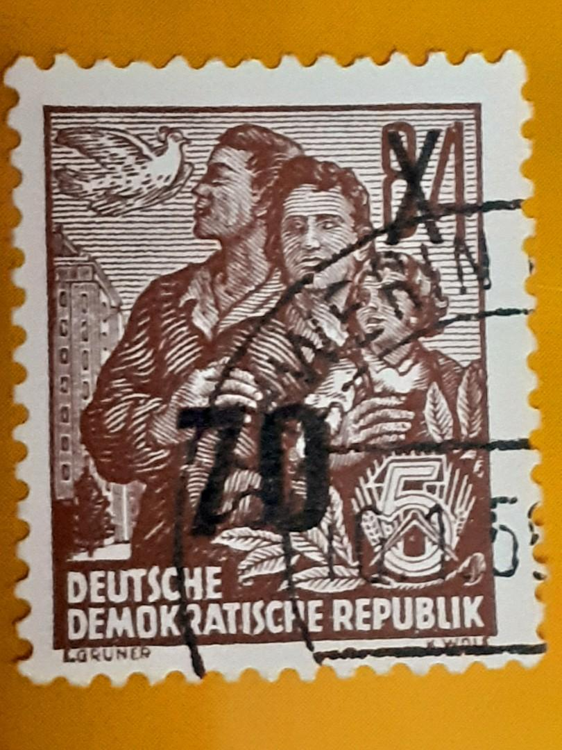 1957 Germany DDR 70Pf used stamp