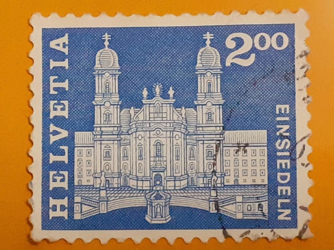 1960  Switzerland 200fr used stamp