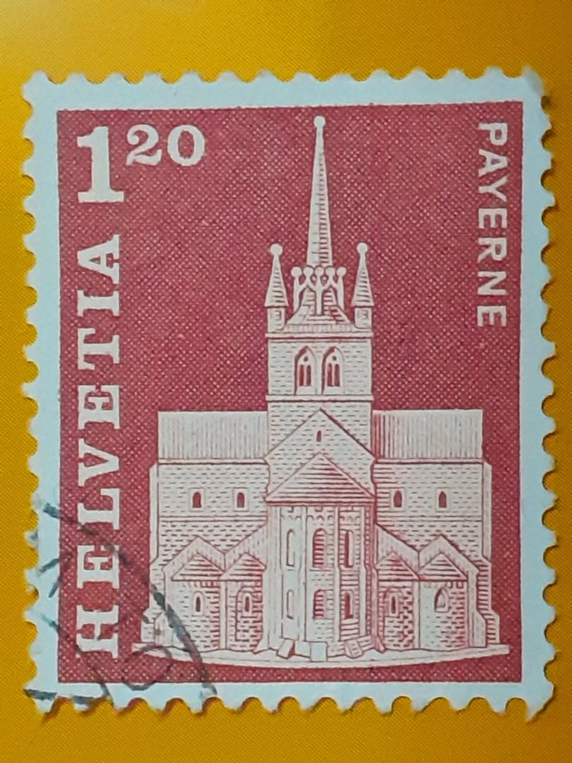 1968 Switzerland 1.3Fr used stamp