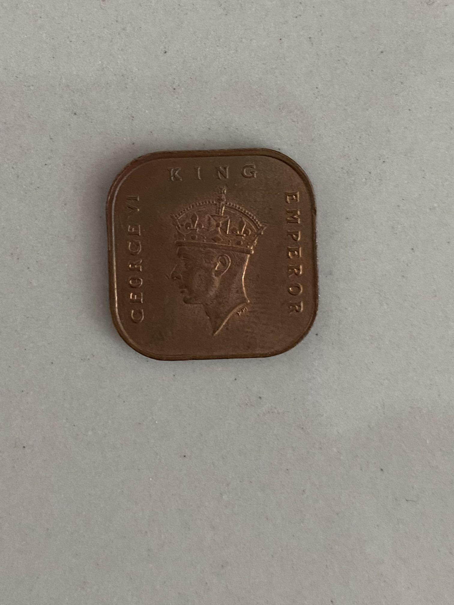 1 cents coin -George VI King Emperor 1945