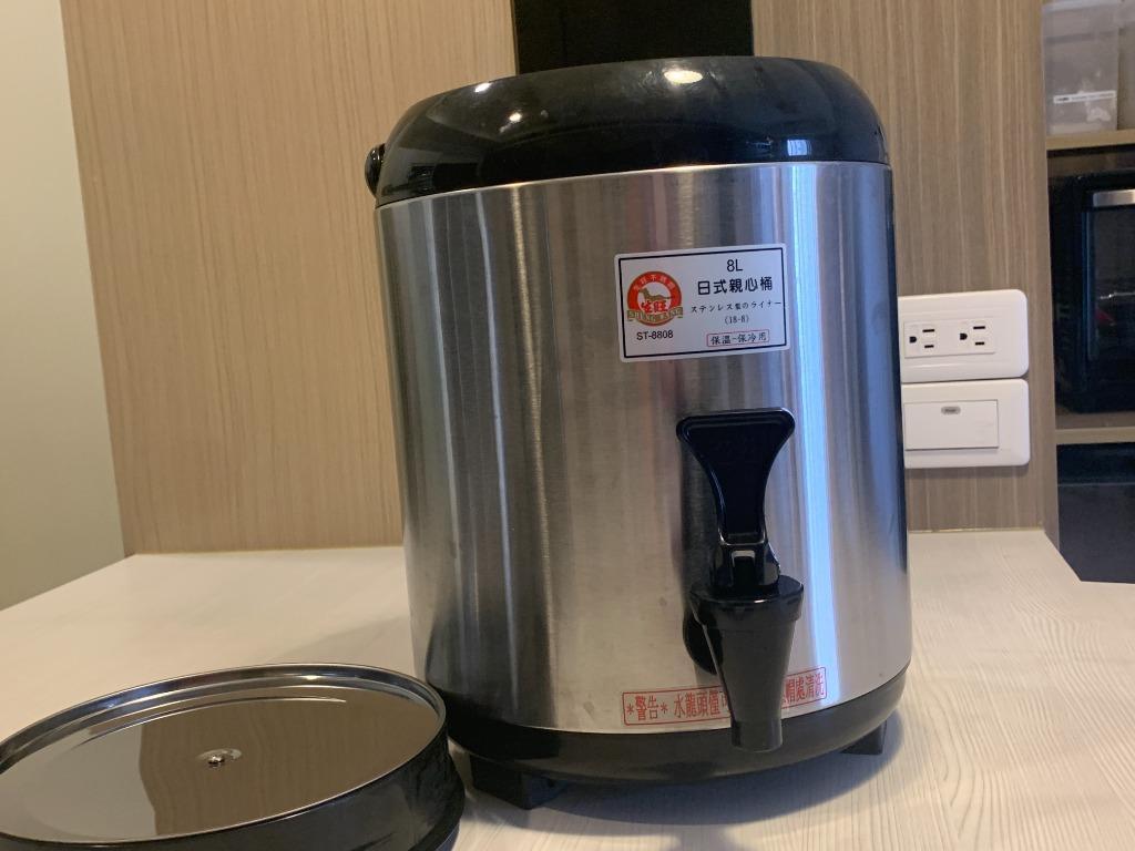 台灣製造【生旺牌 #304不鏽鋼茶桶】黑色