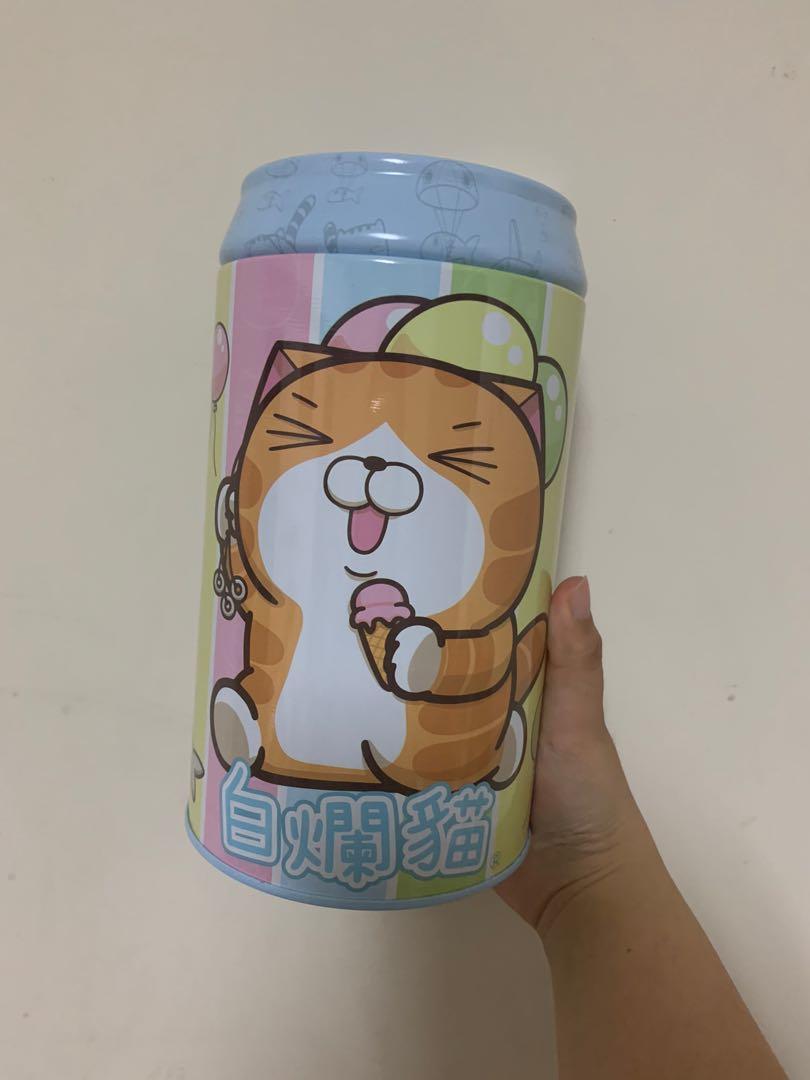 白爛貓 鐵罐 存錢筒