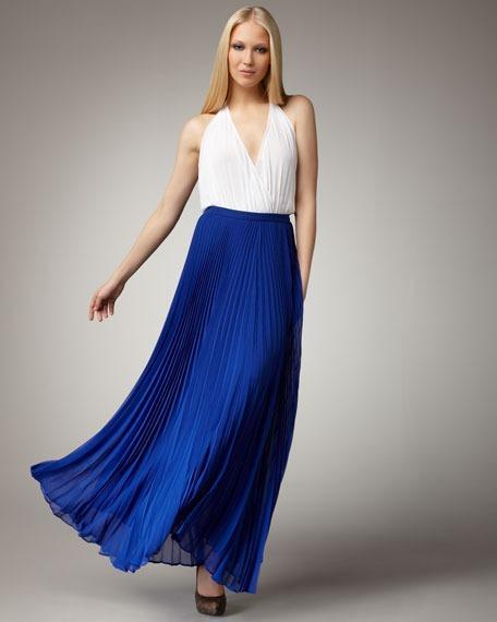 Alice + Olivia Pleated Shannon Maxi Skirt