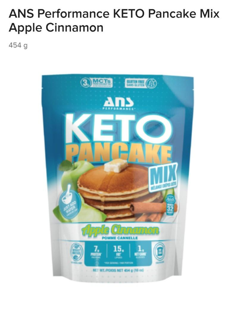 ANS Performance KETO Pancake Mix Apple Cinnamon