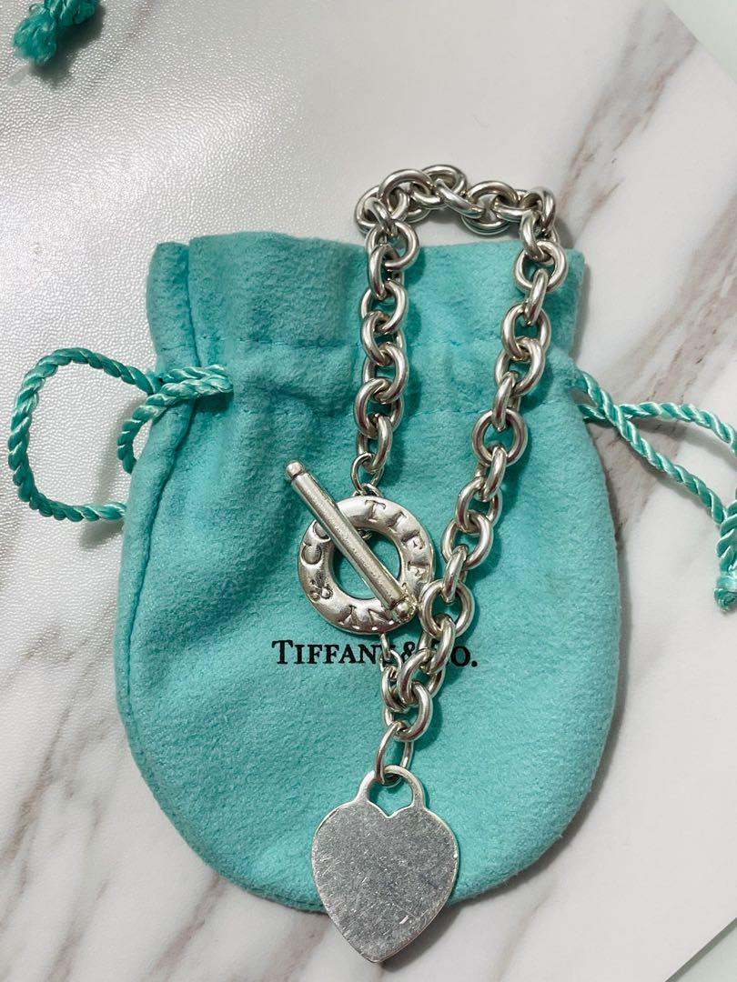 Authentic Tiffany Heart Bracelet and Necklace