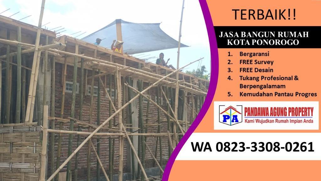 BERGARANSI | 0823-3308-0261 | Jasa Bangun Rumah Minimalis Ukuran  6X10 di Ponorogo, PANDAWA AGUNG PROPERTY