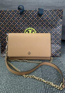 Brand New Tory Burch Emerson Wallet On Chain