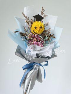 Dried Flower Bouquet/Dried Rainbow Baby Breath Bouquet/Graduation Flower Bouquet/ Handmade DIY Bouquet