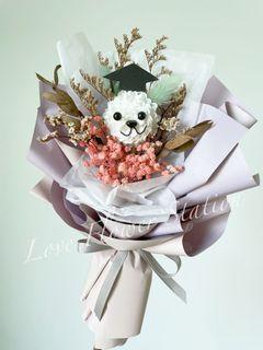 Graduation Bouquet/Dried Flower Bouquet/Dried Baby Breath Bouquet/Handmade DIY Bouquet