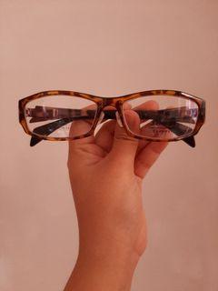 Kacamata motif  cokelat (frame only)