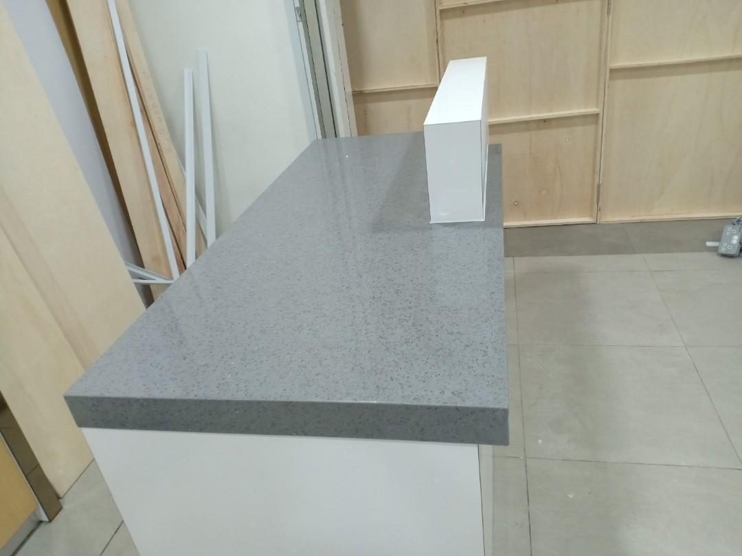 Kitchen Top Quartz Stone Grey Abu Vanity Top Table Top Tv Wall Island Top Home Furniture Furniture On Carousell