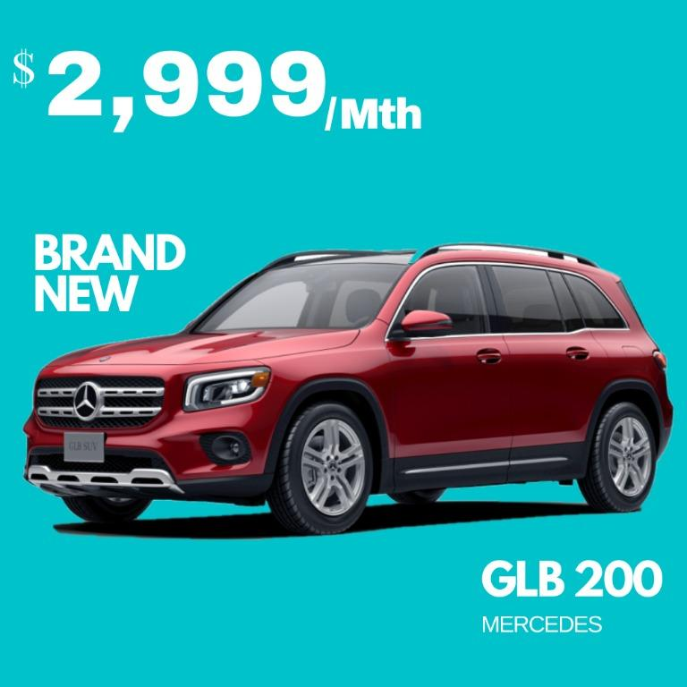 Merc GLB200 ( Brand New 7 seaters RED )