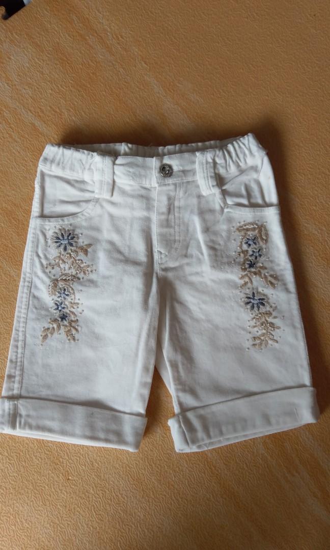 Mini-J 絨布5分短褲褲120cm