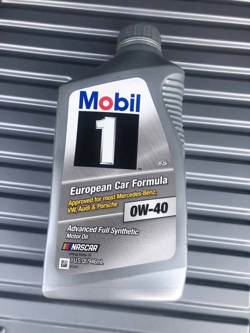 Mobil 1 0w-40 全新機油4瓶