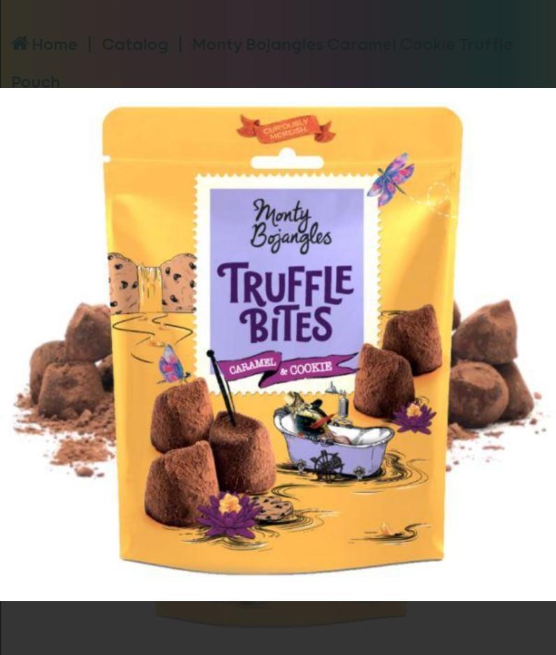 Monty Bojangles Caramel Cookie Truffle Pouch