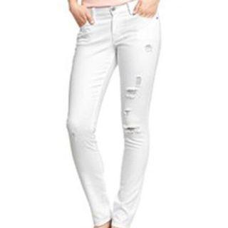 NEW Distressed White Jeans (Free Shipping)