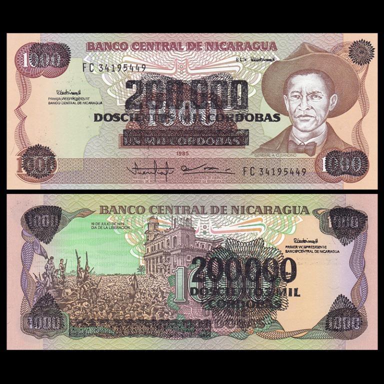 NICARAGUA 200,000 CORDOBAS 1985 UNC