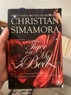 Novel Tiger on My Bed by Christian Simamora