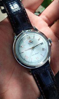 Orient Bambino Generation 2 Version 2 Automatic Dress Watch Roman Numeral Rose Gold & White