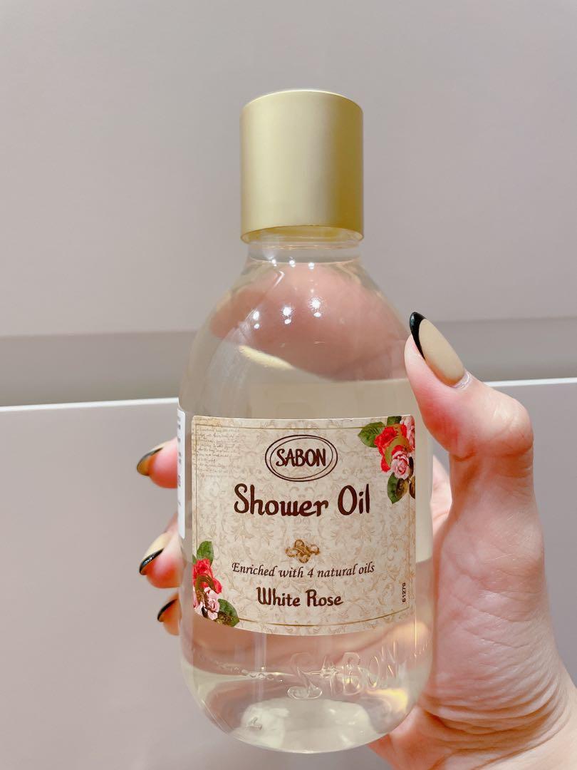 《新品未拆》SABON 季節限定 白玫瑰沐浴油 300ml
